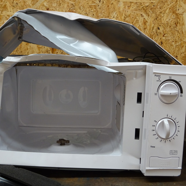 """Broken Microwave"" stock image"