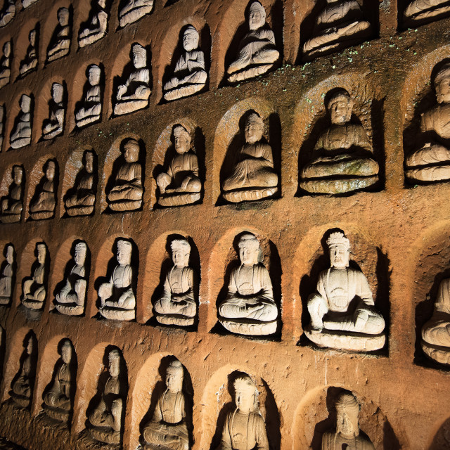 """Buddas in Niches"" stock image"