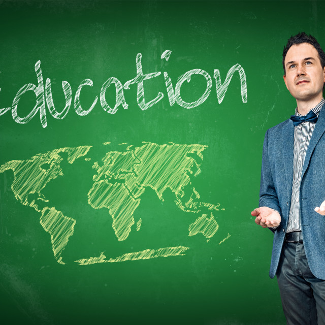 """""""Education with a male teacher"""" stock image"""