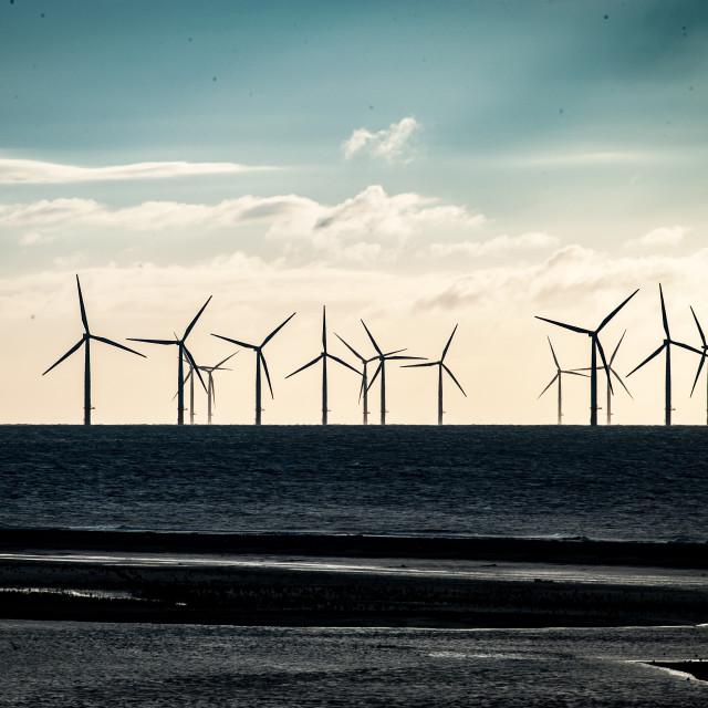 """""""Off shore wind farm"""" stock image"""
