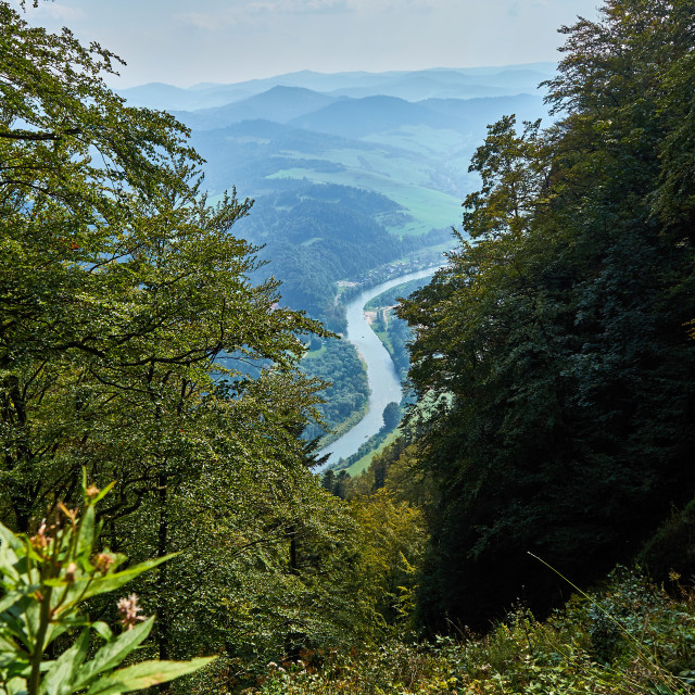 """""""Beautiful panoramic view of the Pieniny National Park, Poland, in sunny september day"""" stock image"""