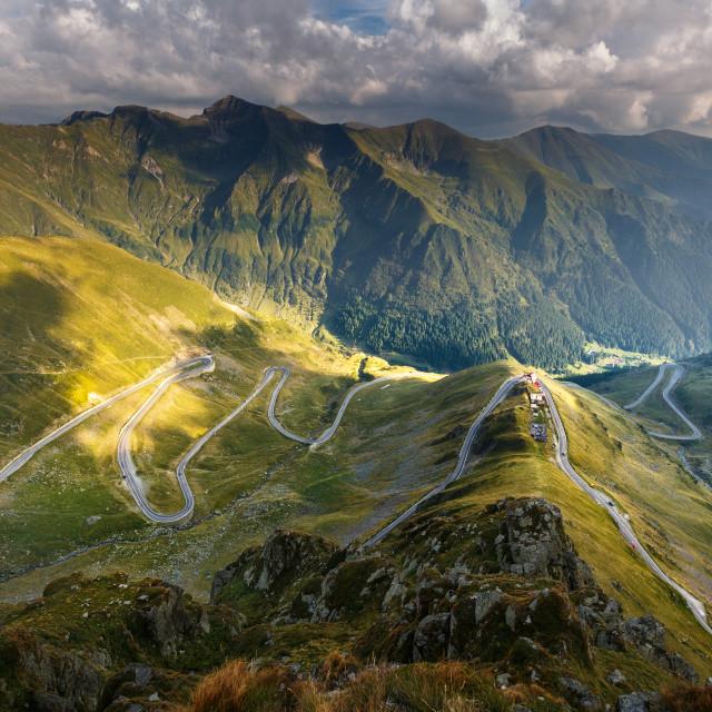 """""""Transfagarasan highway in Romania"""" stock image"""