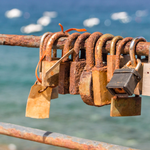 """Mediterranean Love Locks"" stock image"