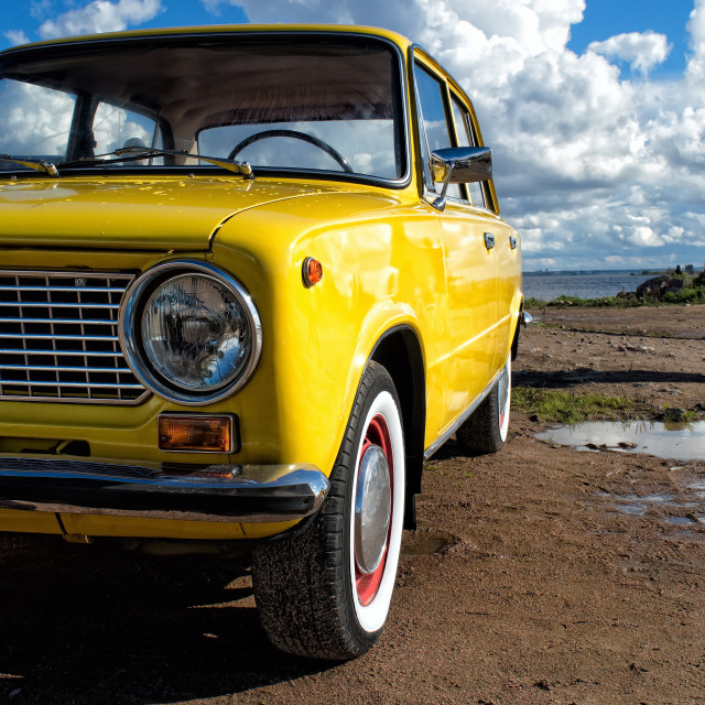 """Old Soviet Lada car"" stock image"
