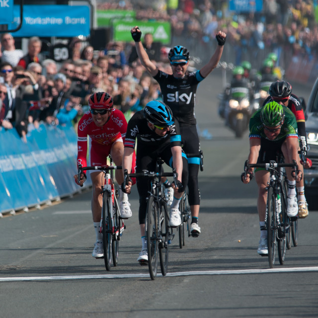 """""""Tour of Yorkshire 2015"""" stock image"""