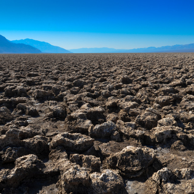 """Devils golf course death valley USA"" stock image"