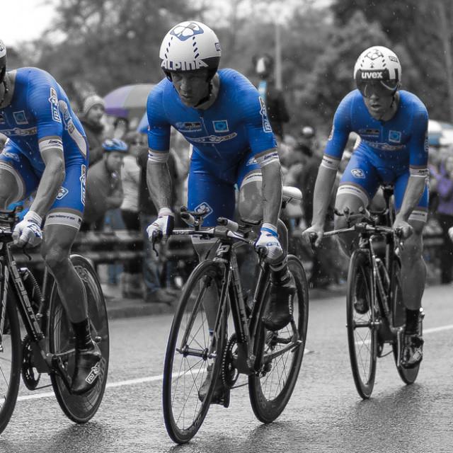 """Giro D'Italia 2014 Belfast Team time Trial"" stock image"