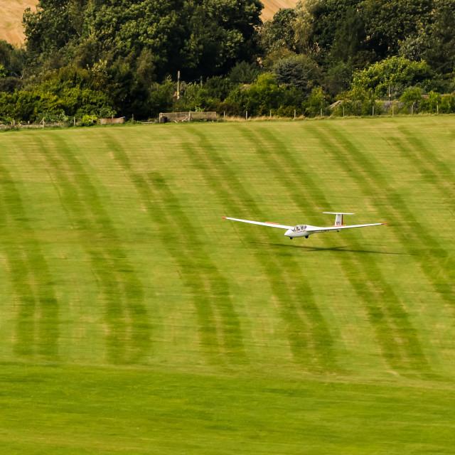 """Glider landing"" stock image"