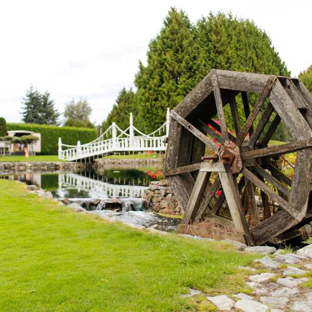 """water wheel"" stock image"