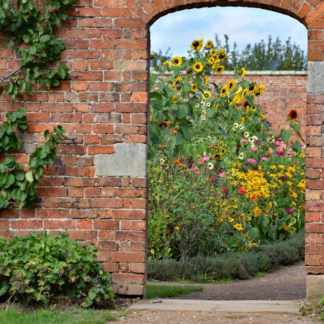 """Entrance to the walled garden"" stock image"