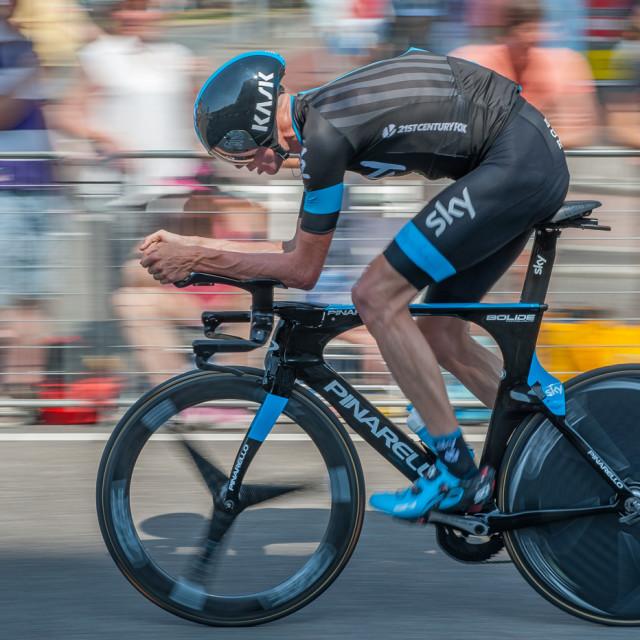 """""""Chris Froome Tour de France Prologue 2015"""" stock image"""