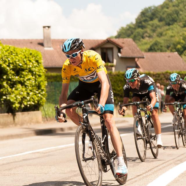 """""""Chris Froome Critérium du Dauphiné"""" stock image"""