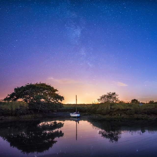 """Starlit Sky Over Beaumont Quay"" stock image"