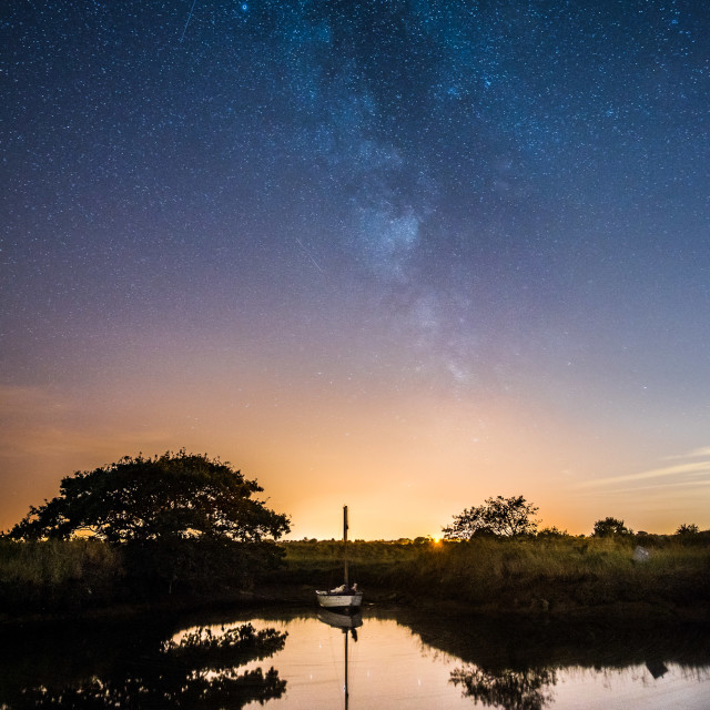 """Milky way Beaumont Quay"" stock image"