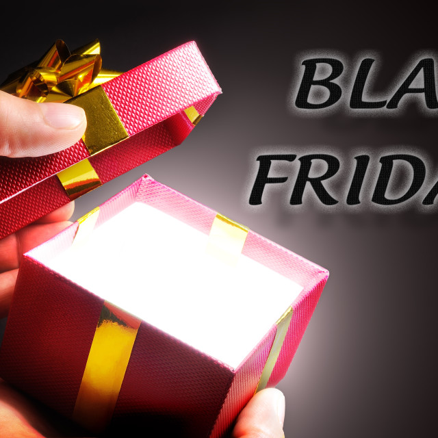 """Gift shopping concept Black Friday"" stock image"