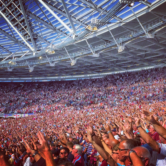 """East Stand, London Stadium"" stock image"