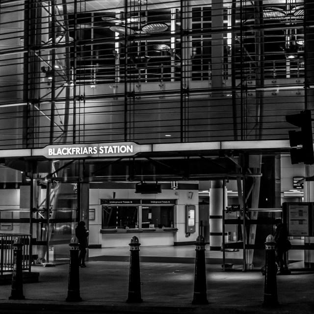 """""""Blackfriars Station"""" stock image"""
