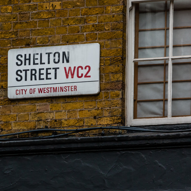 """London Street Sign"" stock image"