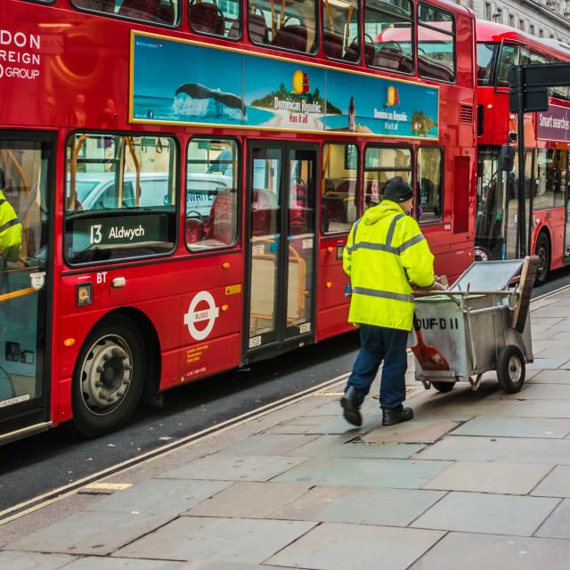 """London Street Cleaner"" stock image"