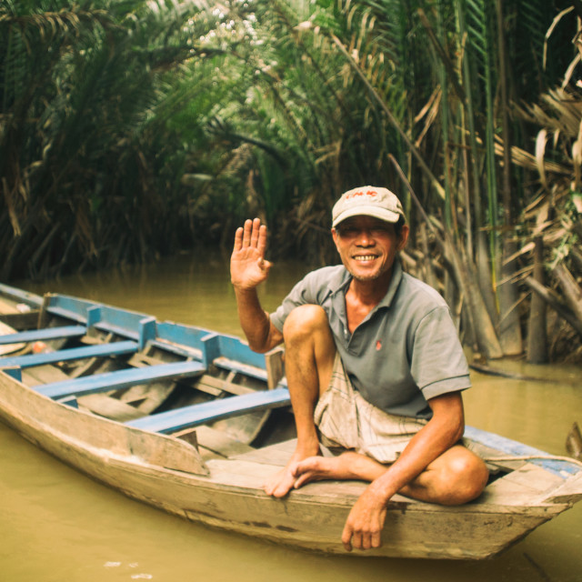 """Mekong adventure."" stock image"
