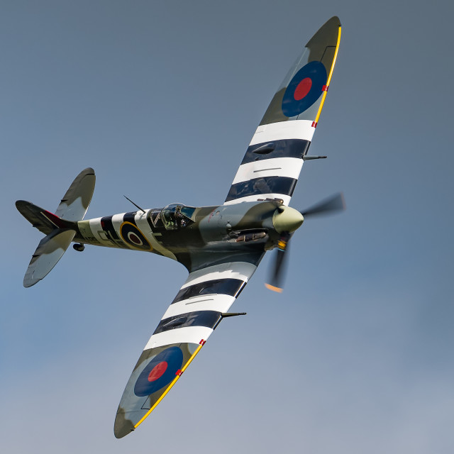 """Spitfire Turning In"" stock image"