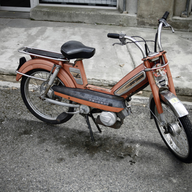"""peugeot 103 old scooter"" stock image"