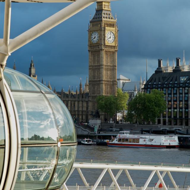 """""""Big Ben and London Eye"""" stock image"""