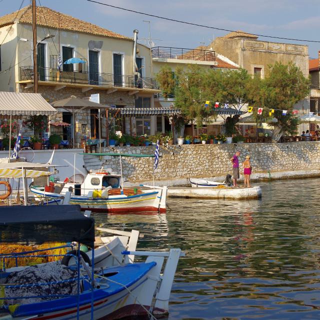 """Agios Nikolaos, Mani Peninsular"" stock image"