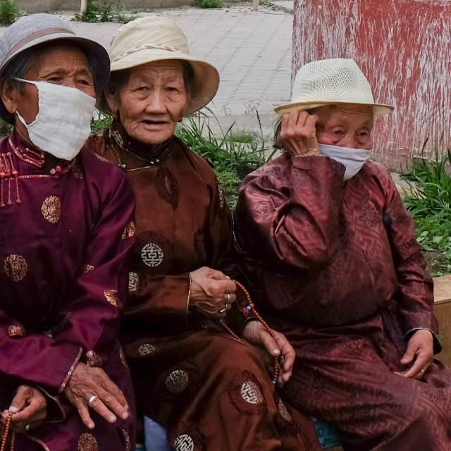 """Ladies in Ulan Bataar"" stock image"