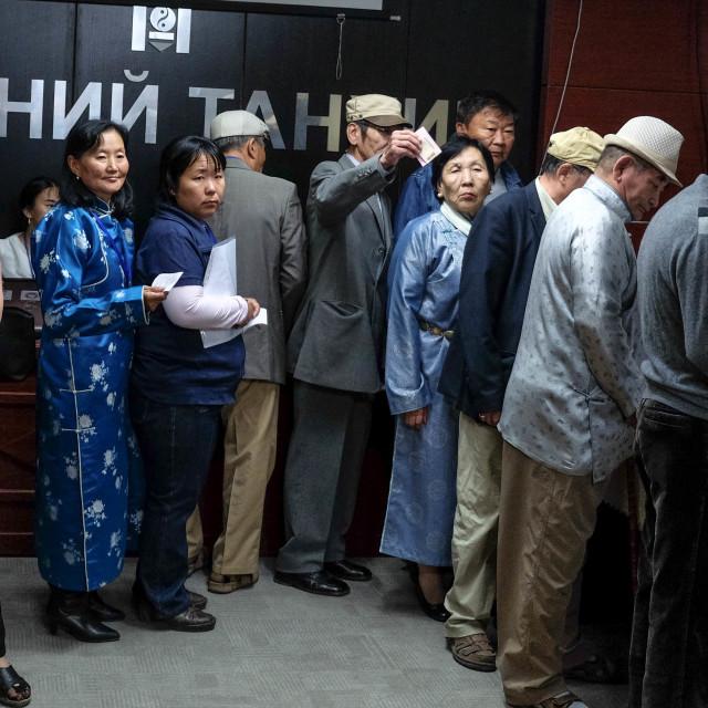 """Waiting to vote - Mongolia 1"" stock image"