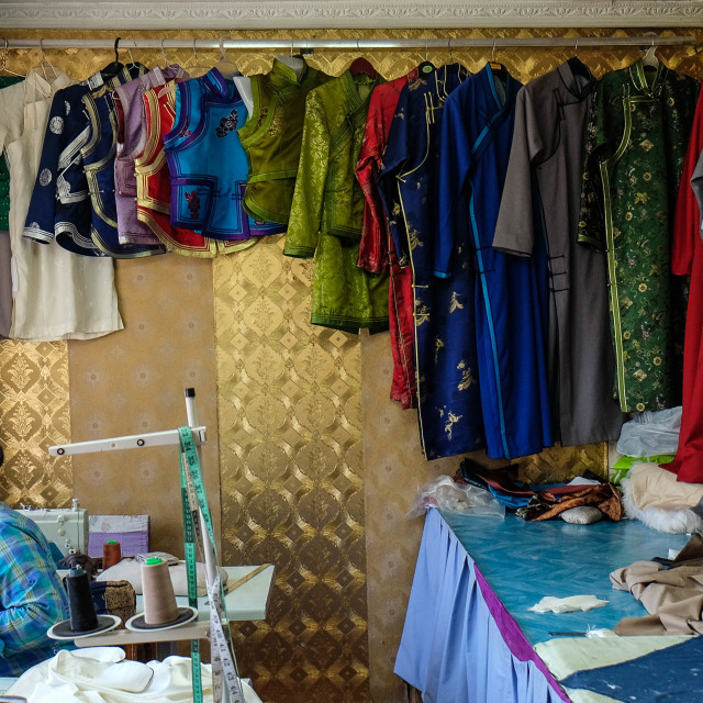 """Seamstress - Ulan Bataar, Mongolia"" stock image"