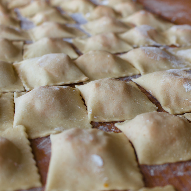 """The handmade ravioli"" stock image"