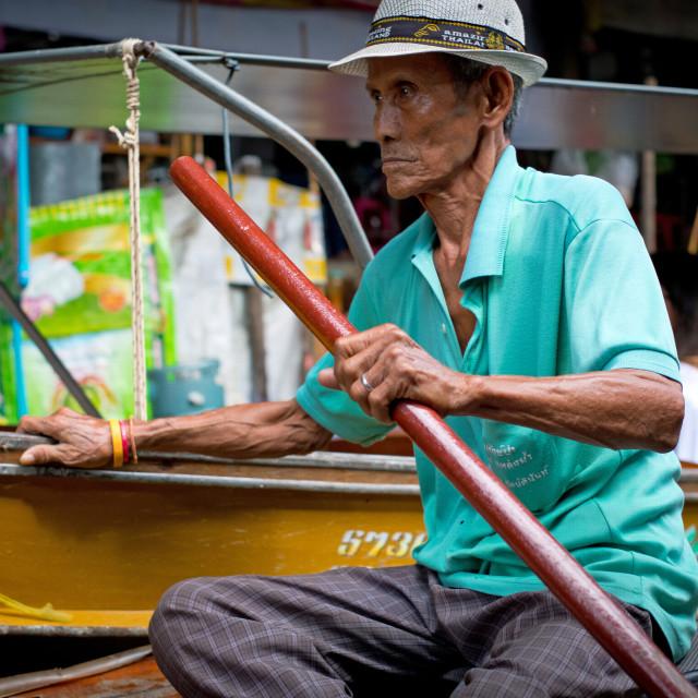 """""""Floating Market Damnoen Saduak, Thailand"""" stock image"""