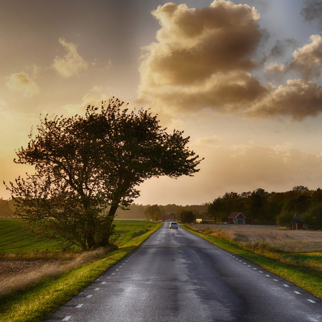 """Road to loneliness"" stock image"