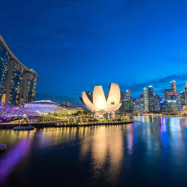 """Singapore: Marina Bay Complex"" stock image"