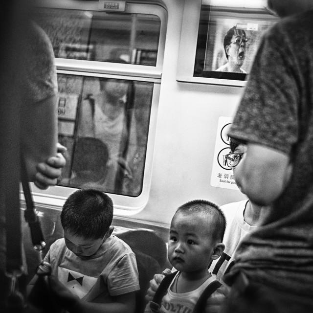 """""""Underground children"""" stock image"""
