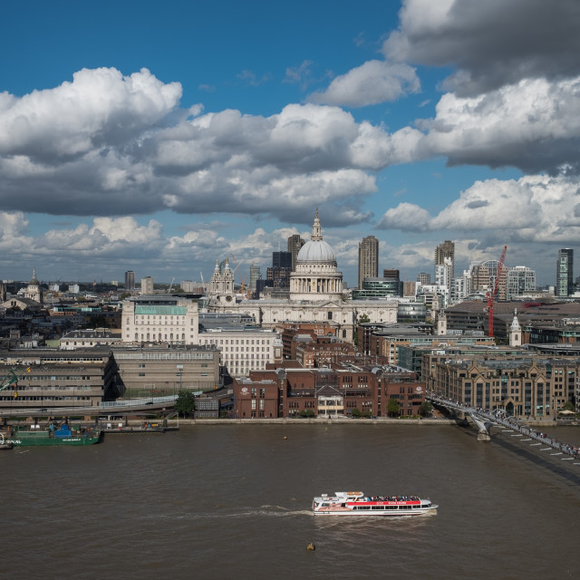 """""""St Pauls Cathedral & London Skyline"""" stock image"""