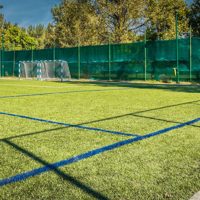 """Football court, HDR effect"" stock image"