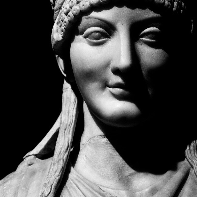 """""""Marble Bust of a Woman"""" stock image"""