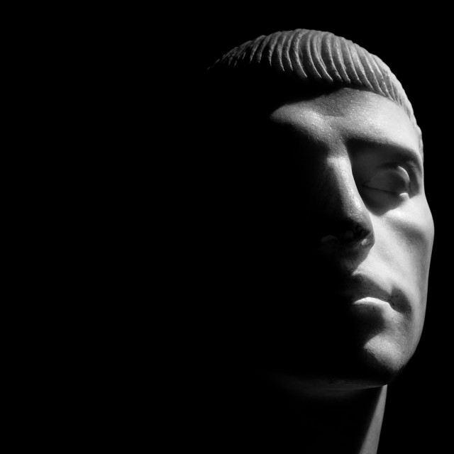 """""""Marble Bust of a Man"""" stock image"""