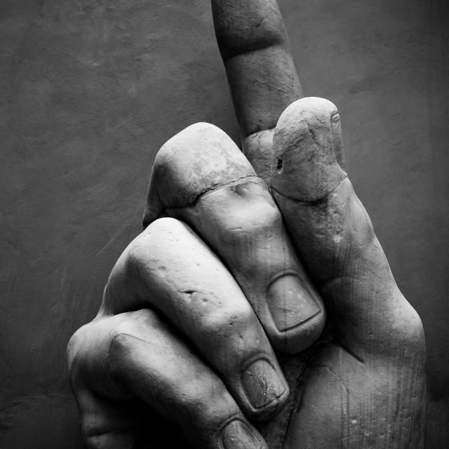 """Stone Hand"" stock image"