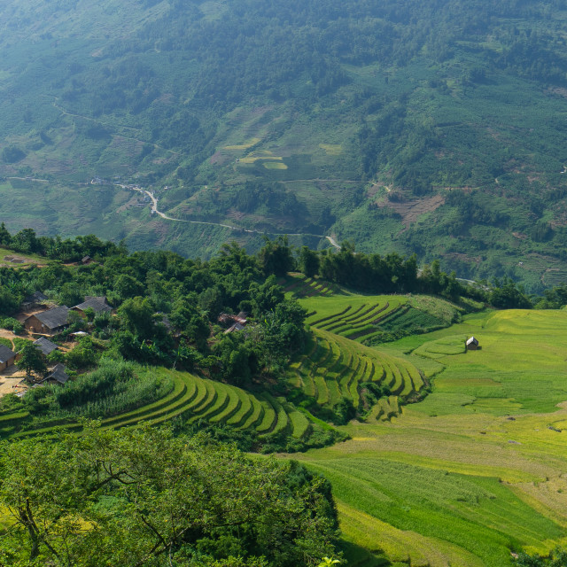 """A quiet village _ Lao Cai, Vietnam."" stock image"