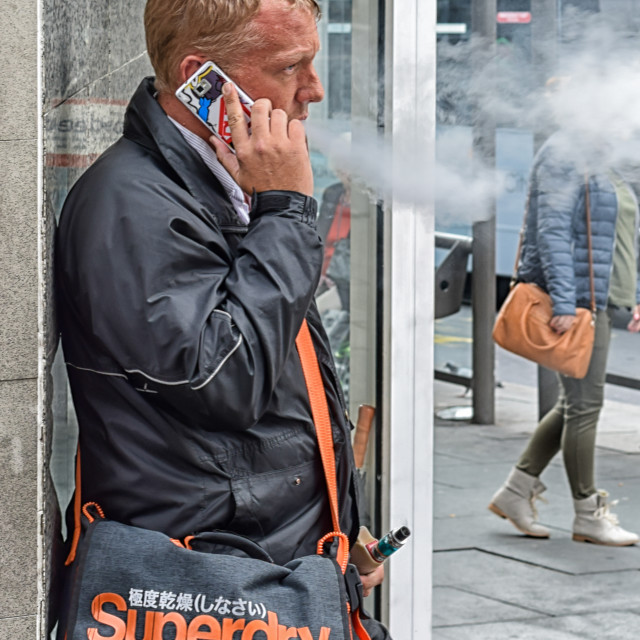 """Casual vapour smoker"" stock image"