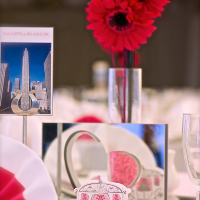 """""""Details on wedding reception tables"""" stock image"""