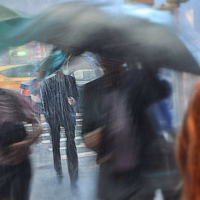 """Rain in New York City"" stock image"
