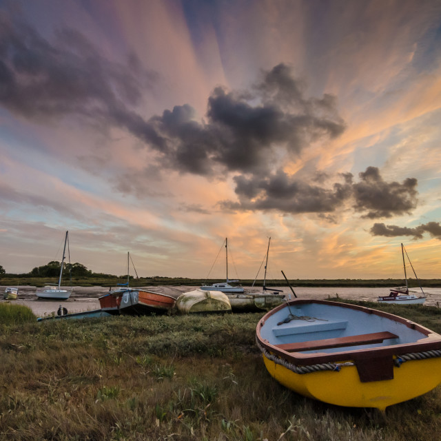 """Evening colours at Alresford"" stock image"