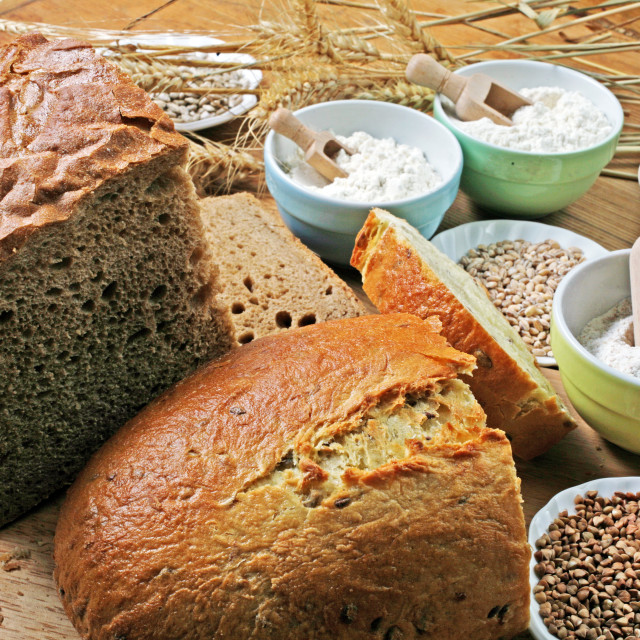 """Hand-made bread,Croatia,9"" stock image"