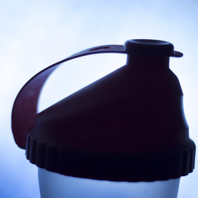 """""""Fitness protein shake shaker bottle"""" stock image"""