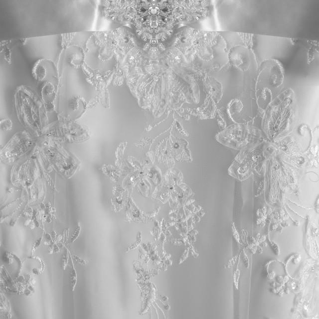 """Wedding Dress Details"" stock image"