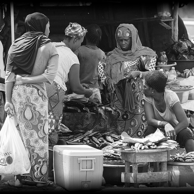 """The Fish Market (Freetown, Sierra Leone)"" stock image"